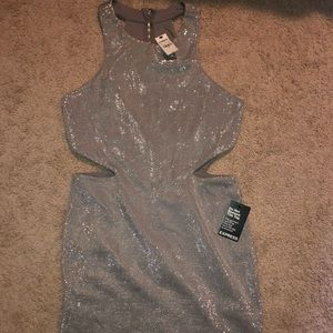 Gorgeous silver glittery cutout dress ✨